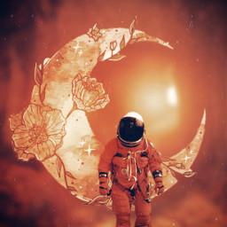 astronaut moon fall autumn freetoedit