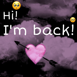 picsart halloween im back imback i miss you imissyou heart arrow iphone emoji iphoneemoji iphonestickers pink black pinkheart blackheart heartcrown pinkhalloween blackhalloween cute clouds freetoedit