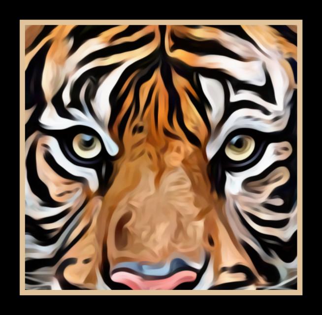 #tiger #oilpaintingeffect #endangered