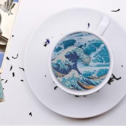 freetoedit blue sea aesthetic madinn ircacupoftea