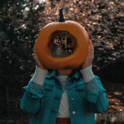 freetoedit unsplash halloween pumpkin hauntedhouse spooky