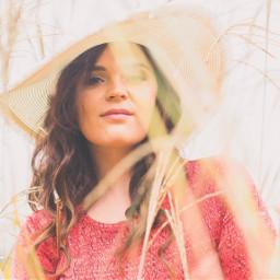red fashion hat beautiful nature freetoedit