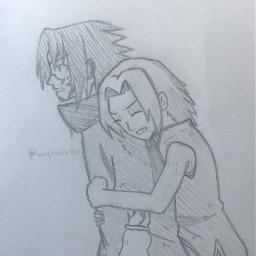anime drawing doodle art traditionalart artmadebyme animeart sketch naruto sasukeuchiha sakuraharuno