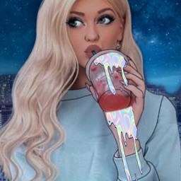 girl beautiful drinking cute srcholographicdripart freetoedit