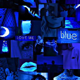 freetoedit blueaesthetic blue bluecollage fyp recommended blueneon ledlights