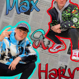 maxandharvey maxmills harveymills tiktok twins red blue gradient boys maxandharveymills millsie freetoedit