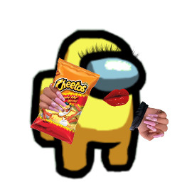 hotcheetogirl hotcheetos hotcheetogurl amongus yellow crewmate freetoedit