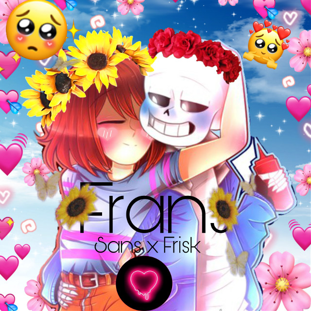#Frans This is a ship from undertale that is Frisk x Sans but its okay if you dont want like this im just putting this out for the people who ship them, hope you enjoy!