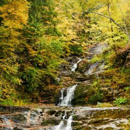 naturephotography waterfall autumncolors freetoedit