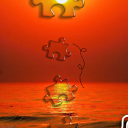 challenge puzzlepieces puzzleart fotoedit freetoedit sunset sea spiral figure sticker puzzletime puzzlechallenge srcpuzzlepieces