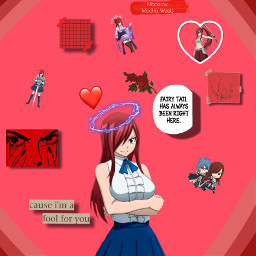 erza erzascarlet fairytail red game anime manga animeweeb weeb edit erzaedit freetoedit