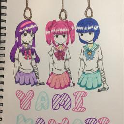 yamikawaii menhera-chan gore freetoedit menhera