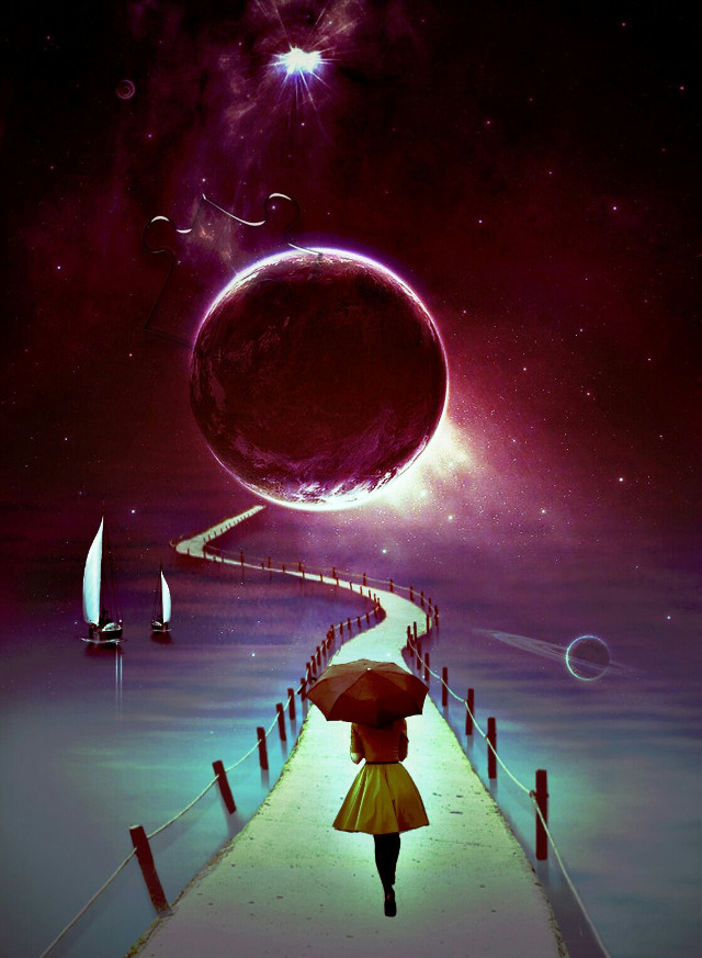 #fantasyart #surrealart #imagination #space #planets