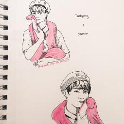 drawing sketch inktober v bts baseball slippery snake taehyung