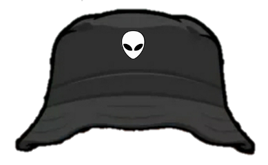 freetoedit sombreronegro sombreropescador sombrerocubo alien