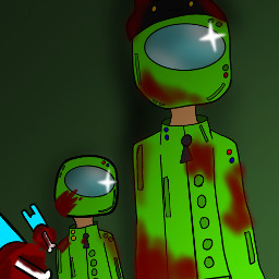 knife blood lightgreen green cyan lightboue cathat hat amongus us among cool amongusfanart amongusart art