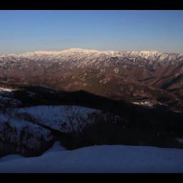 freetoedit japan snowymountains sunlight shade nature clearsky mountainpeaks summit gifumountains