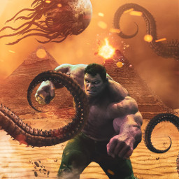 hulk avengers hulksmash marvel desert pyramid storm tenticles artsy artycrafty createart createyourreality picoftheday bestoftheday picsartedit surreal superhero travel