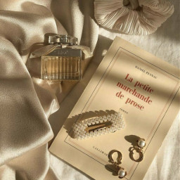 aesthetic classic perfume gold pastelbrown