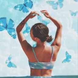 aiselect aiセレクト 蝶々 butterfly blue picsart madebypicsart picsartedit はじめてのpicsart freetoedit