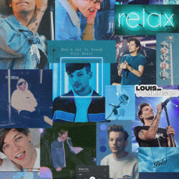 picsart heypicarts edit edits editing editor louis louistomlinson tomlinson onedirection oned blue wallpaper background