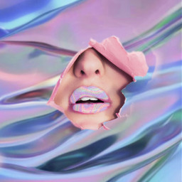 holographic paperrip lips freetoedit