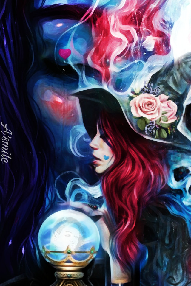 #@asweetsmile1 #portrait #beautiful #queen #princess #witch #blendedimages #blend #creative #colorful #color #bright