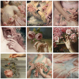 collage aesthetic pretty soft feminine floral freetoedit