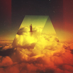 madewithpicsart surreal mystery triangle shape
