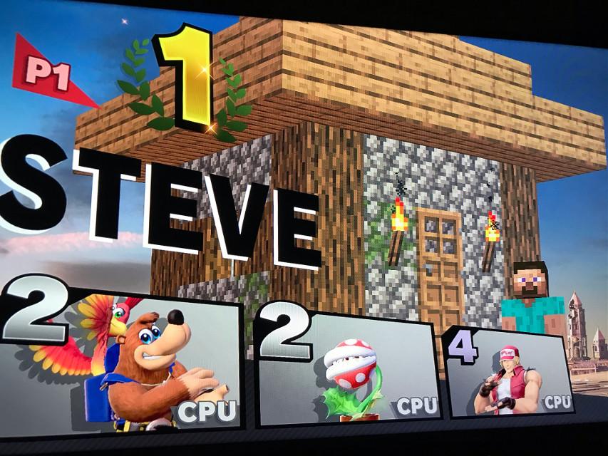 Steve is the best DLC!!  #ssbu