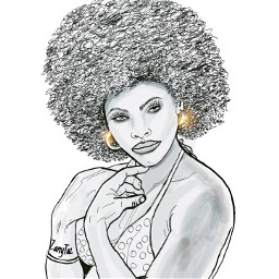 gloriahendry actress and model 1970s jamesbond film liveandletdie portrait outline outlineart woman afro hairstyle illustration beauty celebrity sketch myart drawing trendy freetoedit actress jamesbond