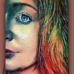 women girl frau lady teenager color colorful colorpaint colorfull colloration picsart picsartedit picsarteffects pics_art picsartremix remix remixit remixed remixedit bild art kunst malen malerei painting freetoedit