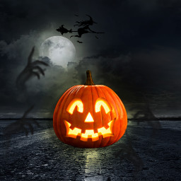 halloween creepy pumpkin kürbis ghost 🎃 freetoedit