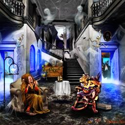 halloween witches ghosts skeletons fantasy fantasyart imagination freetoedit