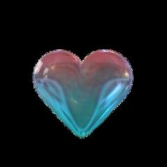aesthetic heart bubble transparent kawaii cute love freetoedit