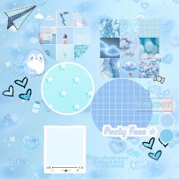 freetoedit cute babyblues babyblue interesting bts aesthetic aestheticedit background blue billieeilish japan night sky sea travel heart circle square
