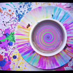 wtf toomanycolors spiral rainbow paint splatters rainbowteaontv ircacupoftea acupoftea freetoedit