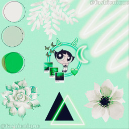 likespam following buttercup green powerpuffgirls powerpuffgirl powerpuff girl flower triangle black doodle leaf plant moon aesthetic aestheticedit aestheticwallpaper diy custom follower special night fashionique picsart freetoedit