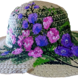 freetoedit floralhat