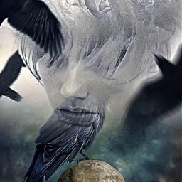 myedit halloween deadinside photolab creepy skull ravens freetoedit