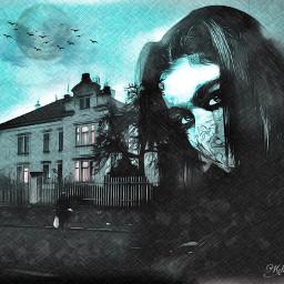 dark darknight darkangel darkclouds picsart madewithpicsart digitalart