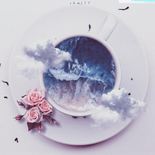 #cup#sea#flower#white#challenge #masterstoryteller#be_creative