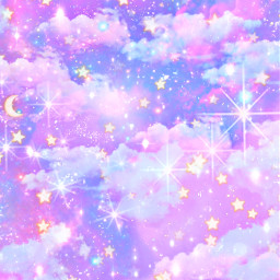 freetoedit glitter sparkle galaxy sky stars kawaii pastel universe dream magical cute girly pattern shimmer cosmos stardust art purple overlay background wallpaper