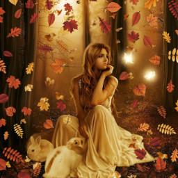 freetoedit fairy fantasy autumn girl srcautumnleaves