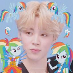 jimin bts mylittlepony mlp icon pony cutiemark rainbowdash twilight pinkiepie applejack fluttershy rarity spike ateez soft yunho san wooyoung seonghwa yeosang jongho hongjoong mingi cute freetoedit