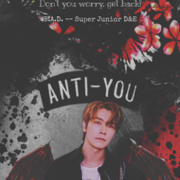 vampire donghae superjunior halloween bad badsong superjuniord&e badblood badbloodalbum blood tryitout dark replay heypicsart makeawesome wings costume sprinkle scary quote quotes background red black aesthetic freetoedit