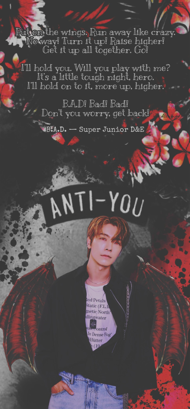 #vampire #donghae #superjunior #halloween #bad #badsong #superjuniord&e #badblood #badbloodalbum #blood #tryitout #dark #replay #heypicsart #makeawesome #wings #costume #sprinkle #scary #quote #quotes #background #red #black #aesthetic