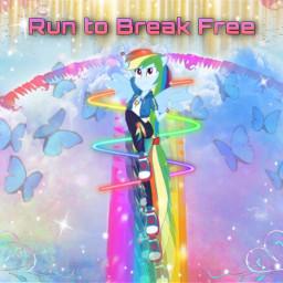 mlp mylittlepony mlpeg equestriagirls rainbowdash runtobreakfree rainbow dashie rcmotioneffect motioneffect freetoedit