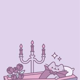 wallpaper cat pushen gato kawaii cute kawai purple purpura violet violeta bat vampiro freetoedit