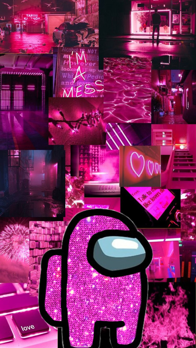 pink among us wallpaper 💕 #pink #amongus #wallpaper #aesthetic